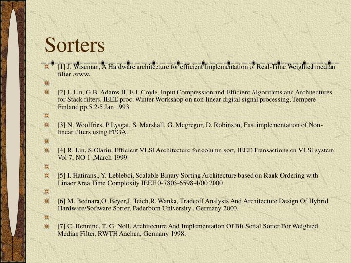 Sorters