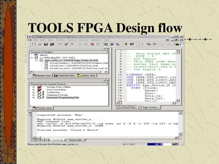 TOOLS FPGA Design flow