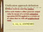 unification approach definition