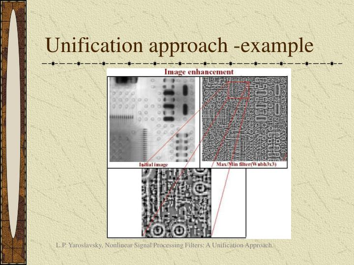 Unification approach -example