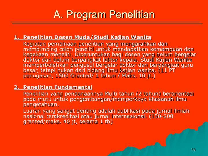 A. Program Penelitian