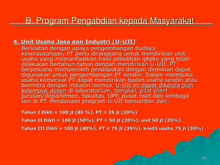 B. Program Pengabdian kepada Masyarakat