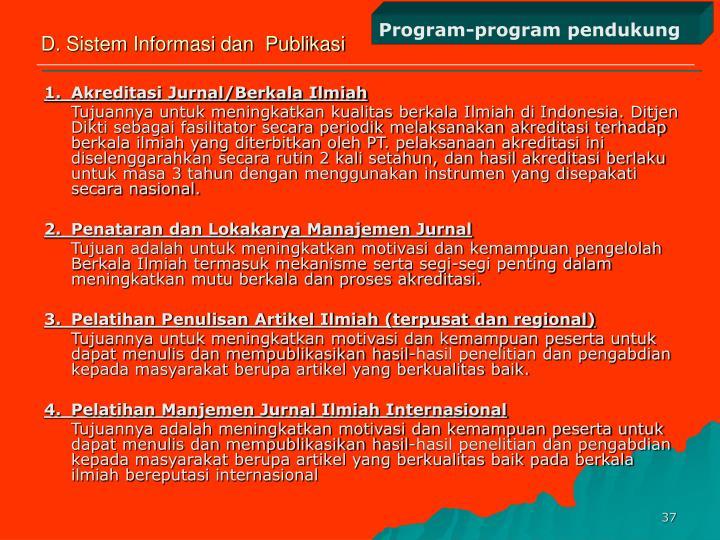 Program-program pendukung