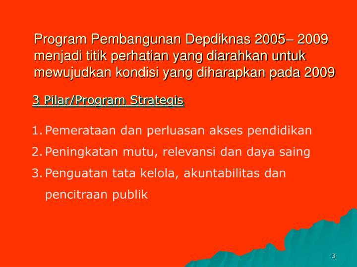 Program Pembangunan Depdiknas 2005– 2009