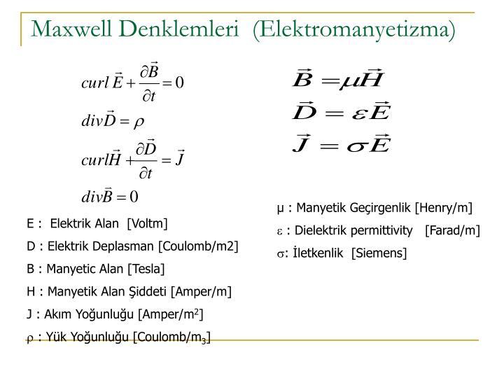 Maxwell Denklemleri  (Elektromanyetizma)