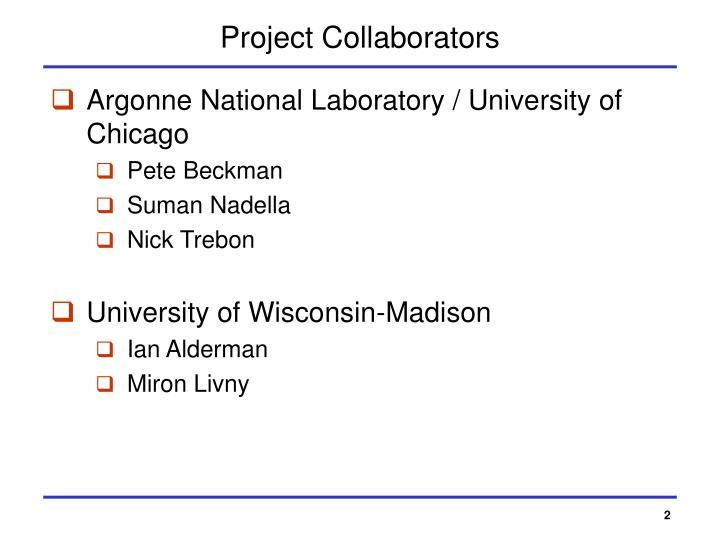 Project Collaborators