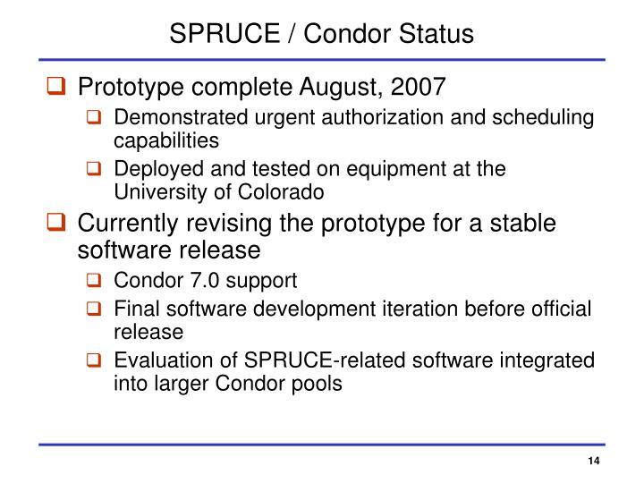 SPRUCE / Condor Status