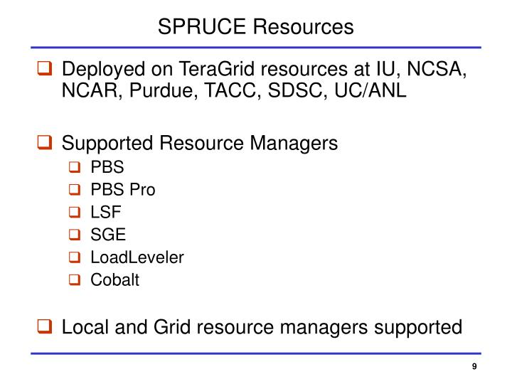 SPRUCE Resources
