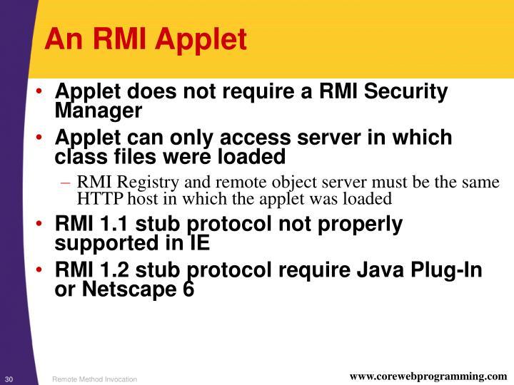 An RMI Applet
