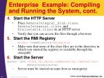 enterprise example compiling and running the system cont