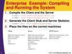 enterprise example compiling and running the system