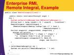 enterprise rmi remote integral example