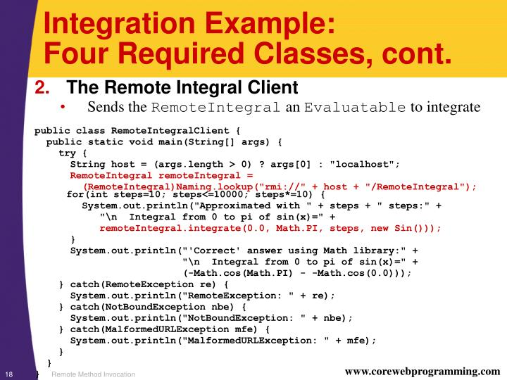Integration Example: