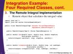 integration example four required classes cont2