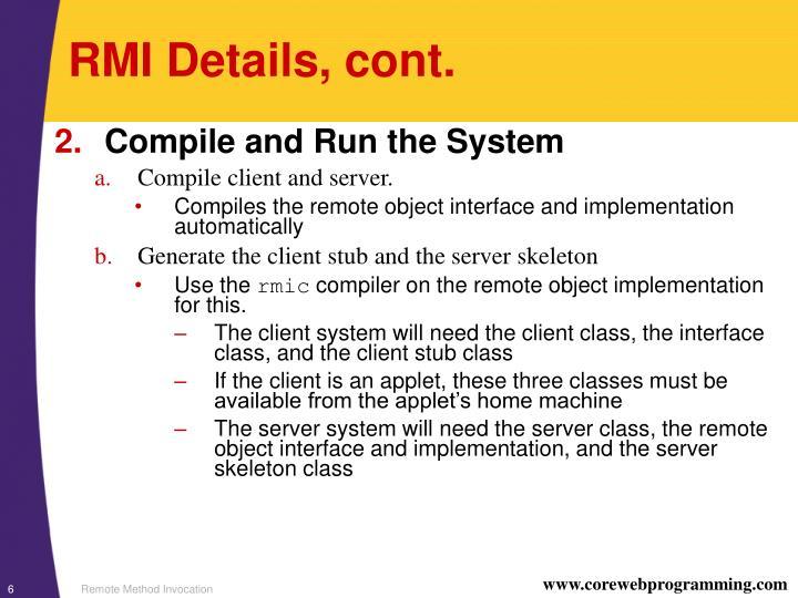 RMI Details, cont.