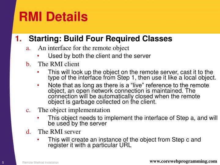 RMI Details