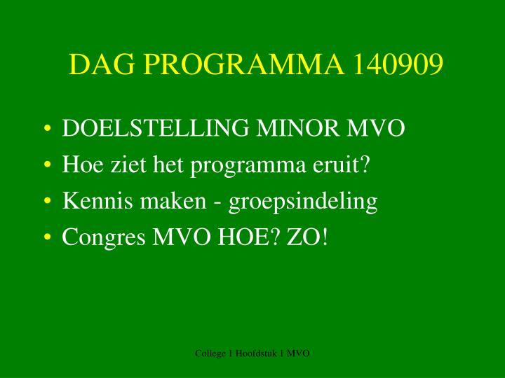 DAG PROGRAMMA 140909