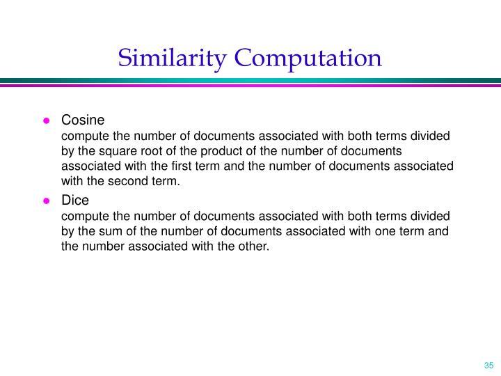 Similarity Computation