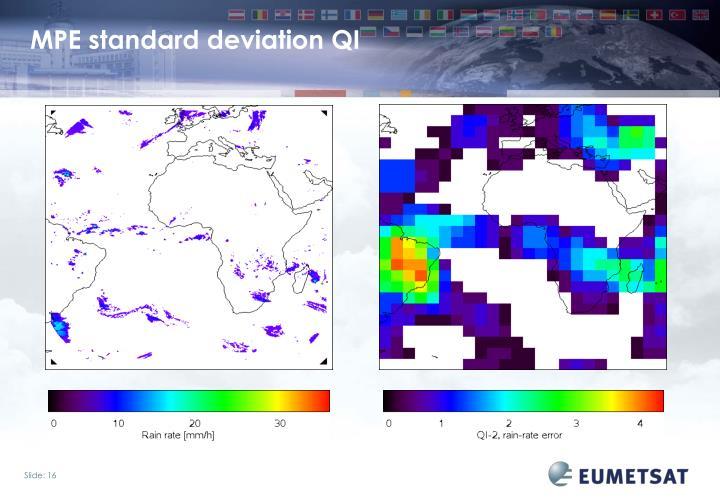 MPE standard deviation QI
