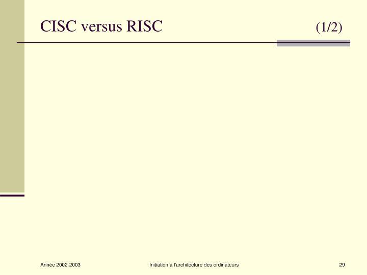 CISC versus RISC