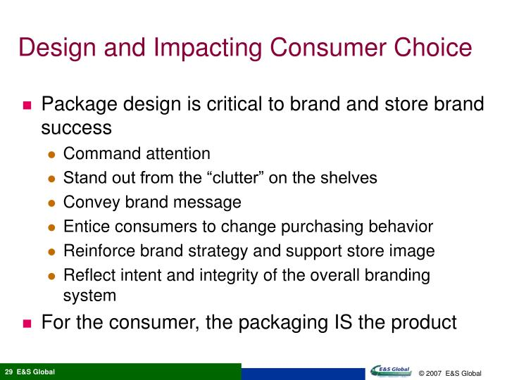 Design and Impacting Consumer Choice