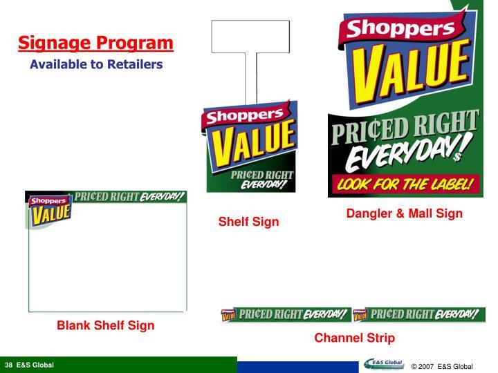 Signage Program