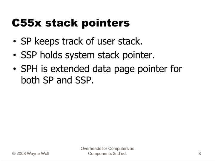 C55x stack pointers