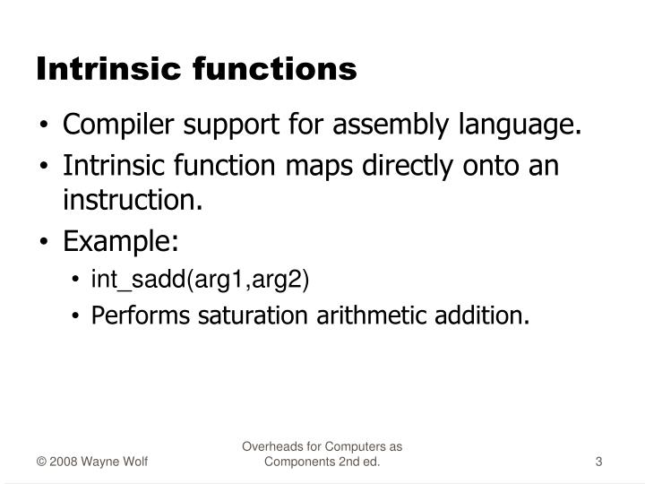 Intrinsic functions