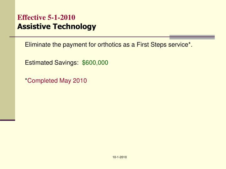 Effective 5-1-2010