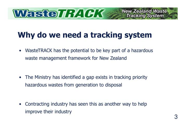 Why do we need a tracking system