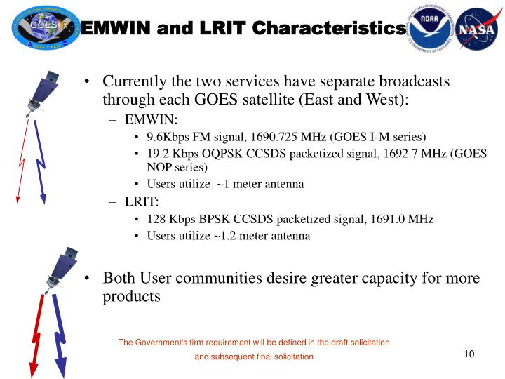 EMWIN and LRIT Characteristics