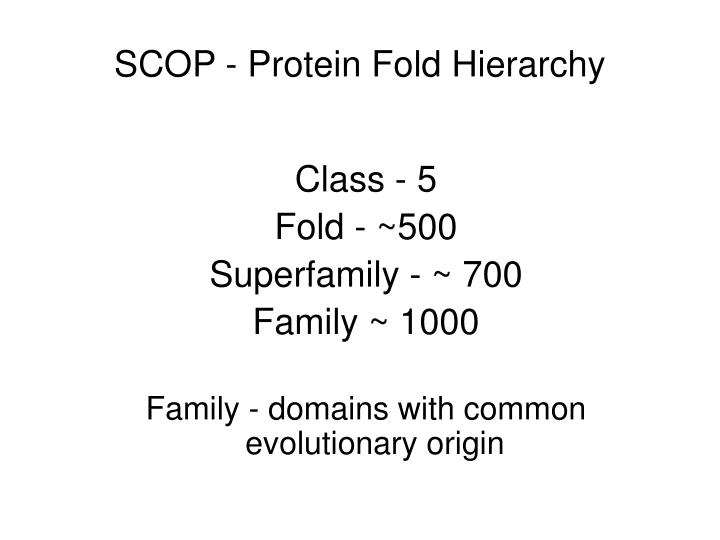 SCOP - Protein Fold Hierarchy