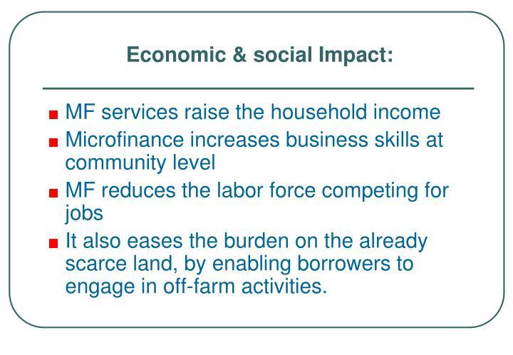 Economic & social Impact: