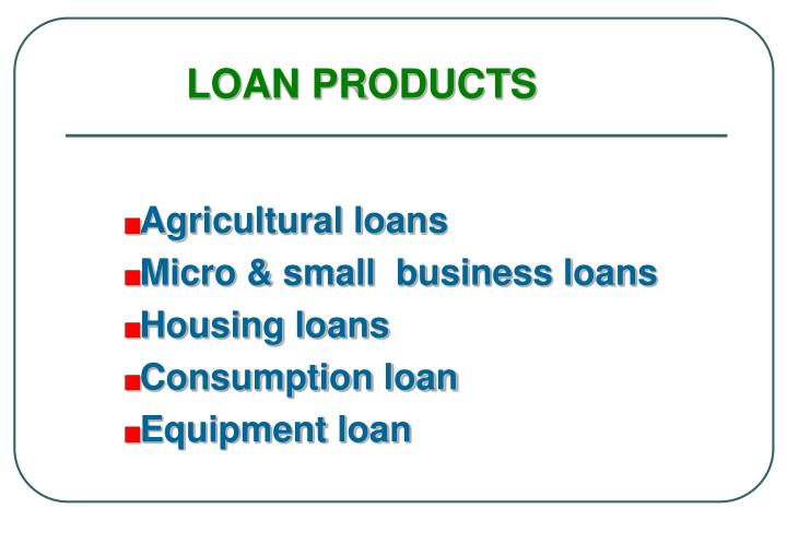 LOAN PRODUCTS