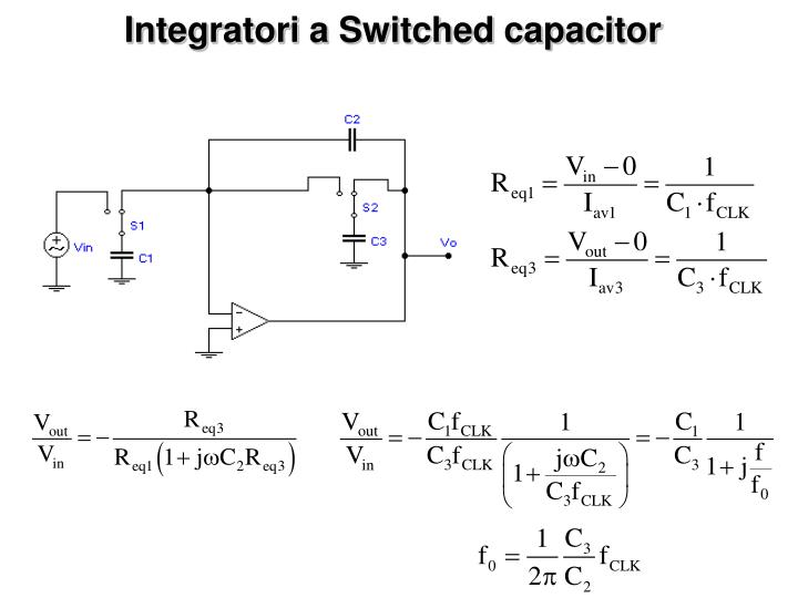 Integratori a Switched capacitor