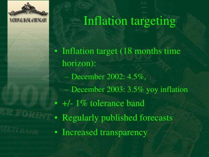 Inflation targeting