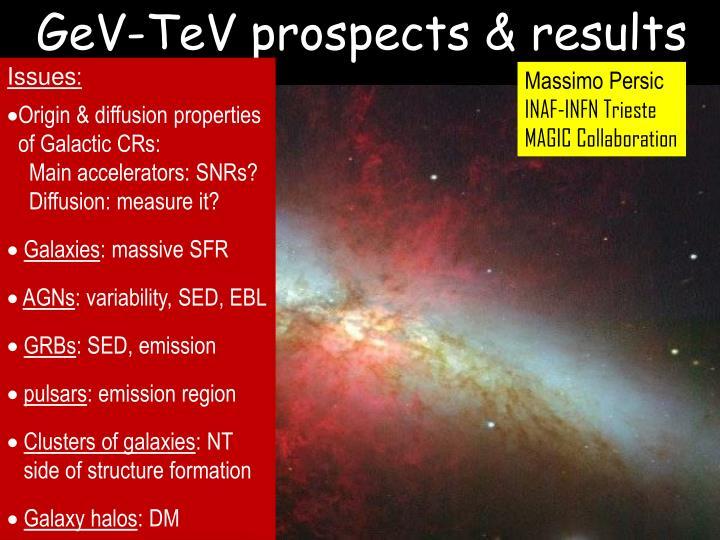 GeV-TeV prospects & results