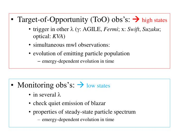Target-of-Opportunity (