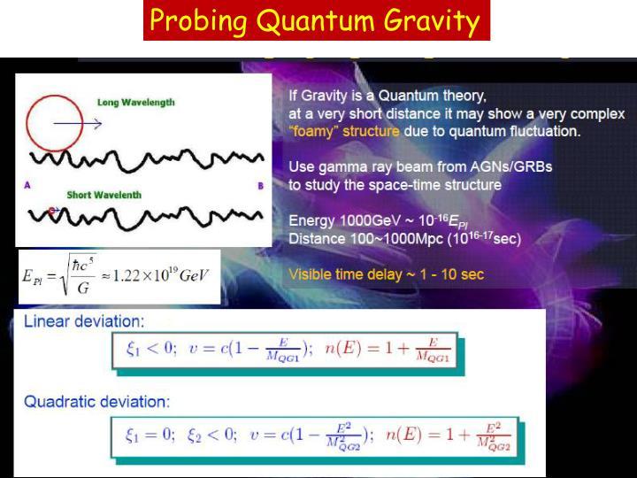 Probing Quantum Gravity