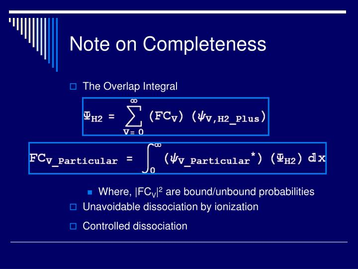 Note on Completeness