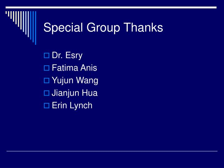 Special Group Thanks
