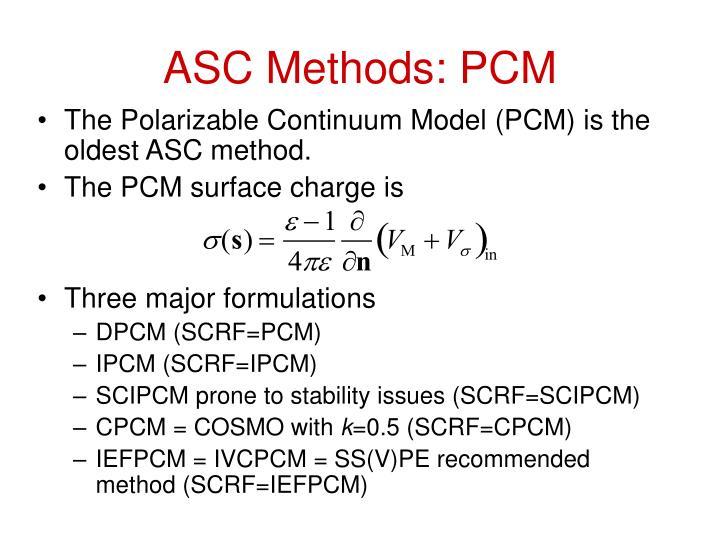 ASC Methods: PCM