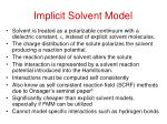 implicit solvent model