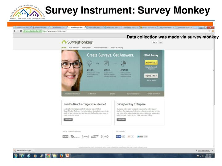 Survey Instrument: Survey Monkey