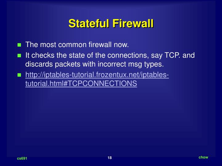 Stateful Firewall