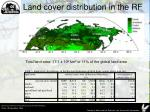 land cover distribution in the rf