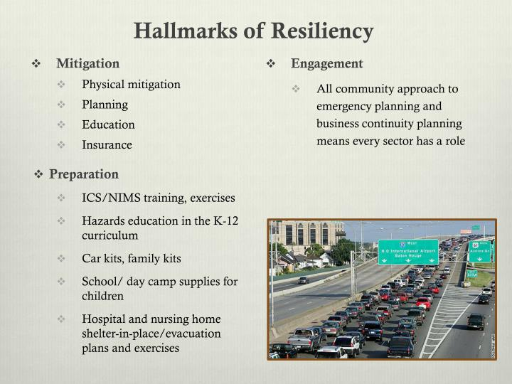 Hallmarks of Resiliency