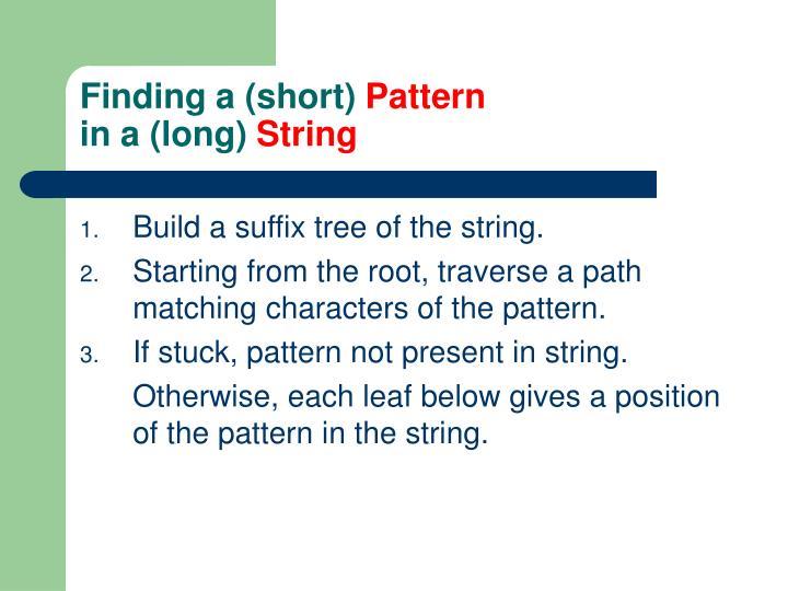 Finding a (short)