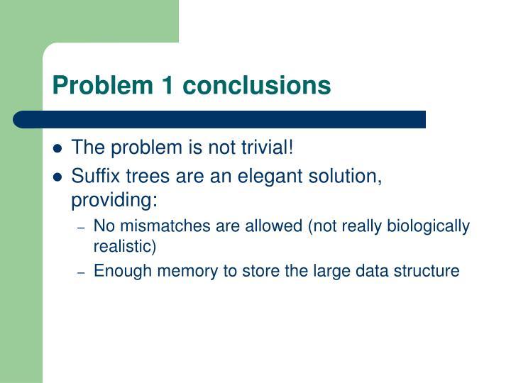Problem 1 conclusions
