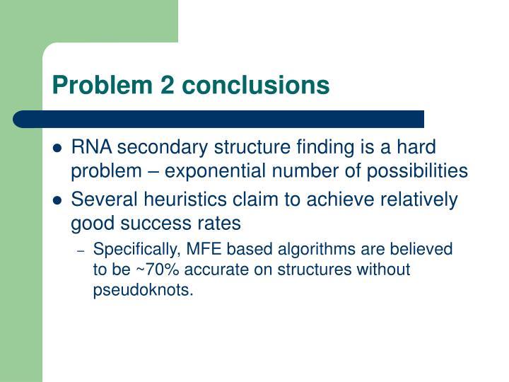 Problem 2 conclusions